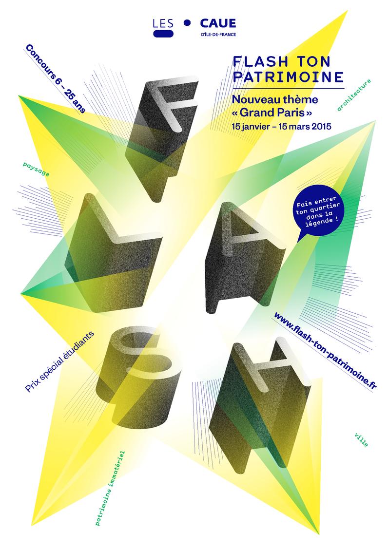 Affiche du concours Flash ton Patrimoine 2015