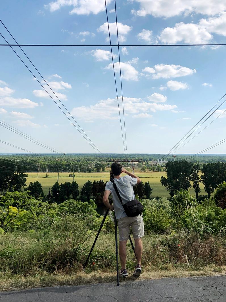 « Nous sommes ici avenue de Bellevue à Conflans-Saint-Honorine et visons vers le sud, la plaine d'Achères »