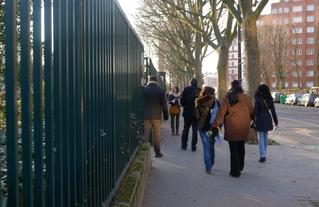 Marche exploratoire à la Porte de Montreuil